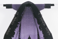 "Rain Coat, 2006, 56""x59"", wool, pierced, dyed, pieced"