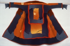 "Coat of Arms, 1994, 52""x59"", wool, fulled, dyed, pieced."