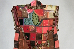 Garden Vest, 1983, wool, resist, dyed, embroidery.