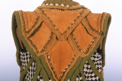 Petal Vest, 1971, wool, crochet, knit, leather.