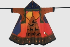 "Tee Pee Coat, 1988, 54""x59"", wool, fulled, dyed, pieced."