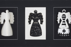 """Three Sisters"", 2010, 23""x11"", paper, gesso, cut."